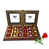 Adorable Wrapped Chocolates Gift Box With Red Rose - Chocholik Luxury Chocolates
