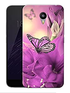 """Purple Pretty Butterfly Printed Designer Mobile Back Cover For """"Google Infocus M2 Note"""" By Humor Gang (3D, Matte Finish, Premium Quality, Protective Snap On Slim Hard Phone Case, Multi Color)"""