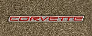 Logo 1999-2004 Chevrolet Corvette Hardtop Luxury Standard Deck Mat Luxury Cruiser Mat Color: Oak Mat Logo: Corvette Word Applique Red on Beige (1997-04)