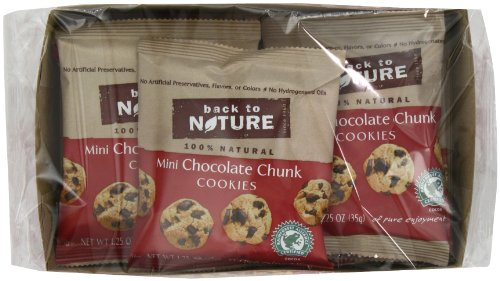 Back to Nature Mini Chocolate Chunk Cookies, 1.25-Ounce Bags (Pack of 24)