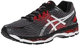 ASICS Men\'s Gel-Nimbus 17 Running Shoe,Carbon/White/Black,10 M US