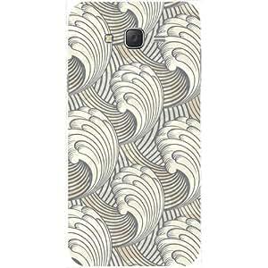 Casotec Wave Line Texture Design Hard Back Case Cover for Samsung Galaxy J2
