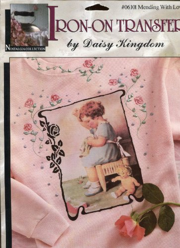 Daisy Kingdom Nostalgia Collection Iron-On Transfer ~ Mending With Love