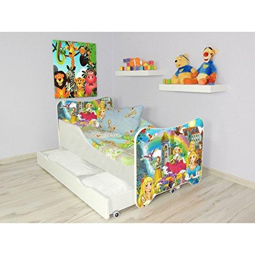 Lit Princesse +sommier+tiroir+matelas 140x70cm