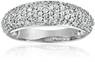 14k White Gold Pave Diamond Ring (3/4…