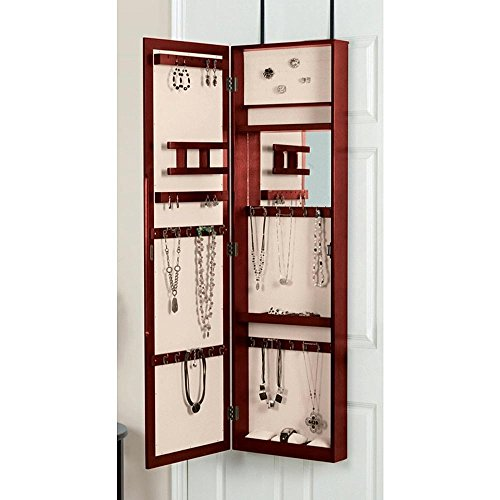 Dark Wood Jewelry Armoire front-1033542