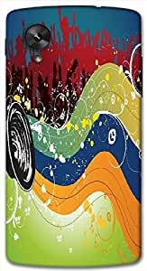 Timpax protective Armor Hard Bumper Back Case Cover. Multicolor printed on 3 Dimensional case with latest & finest graphic design art. Compatible with Google Nexus-5 Design No : TDZ-21810