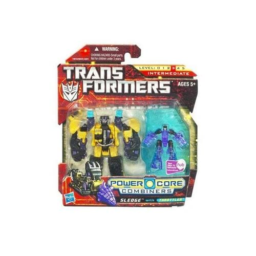 Hasbro – 19810 – Transformers Power Core Combiners Figuren – Level 3 – Sledge mit Throttler günstig als Geschenk kaufen