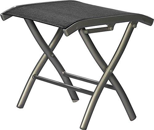 Fußbank Gartenmöbel zusammenklappbar silber / schwarz günstig bestellen
