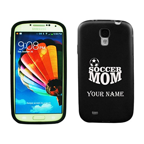 Personalized Samsung Galaxy S4 Aluminum & Silicone Case Soccer Mom - Lifetime Warranty (Black)