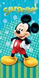 Disney Beach Towel Mickey Mouse Blue Surprise Bath Towel 100% Cotton