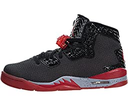 Nike Jordan Kids Air Jordan Spike Forty Bg Black/Fire Red/Cement Grey Basketball Shoe 7 Kids US