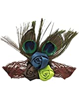 1 Pc Peacock Feather- Lovely Feather Head Wear Headband for Baby Newborn Toddler Girls