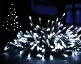 #7: White 200 LED Christmas Lights Supabrights