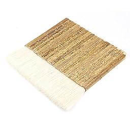 Dimart Beige Wood Grip Faux Fur Hair Wide Paint Brush 5.7\