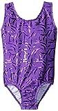 Danskin Little Girls' Gymnastics Leotard, Sparkle Purple, Small/4-6