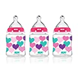 NUK Perfect Fit Baby Bottle, Girl, 5oz 3pk (Color: Girl, Tamaño: 5 Ounce (Pack of 3))