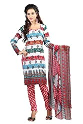 Swagpod Multi Crepe Printed Unstitched Dress Material SWAG00286