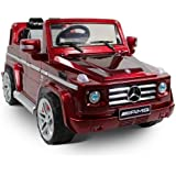 Mercedes Benz SUV G55 AMG Kids 12v Dual Engine Electric Ride on w/ Remote Control Red