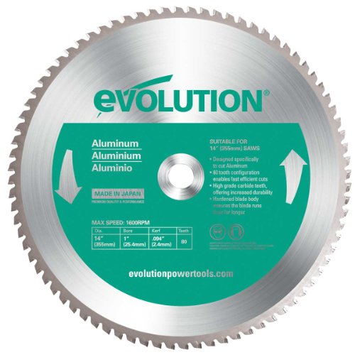 Evolution Power Tools 12BLADEAL Aluminum Cutting Saw Blade, 12-Inch x 80-Tooth (12 Aluminum Blade compare prices)