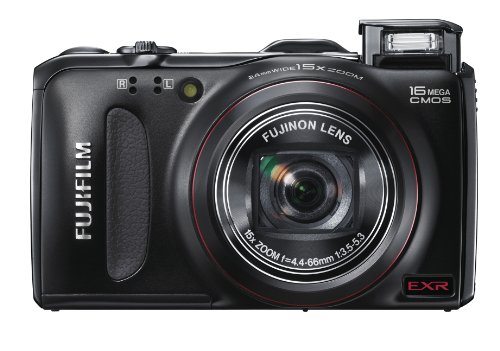 Fujifilm FinePix F550 Digital Camera - Black (16MP, 15x Optical Zoom) 3-inch LCD