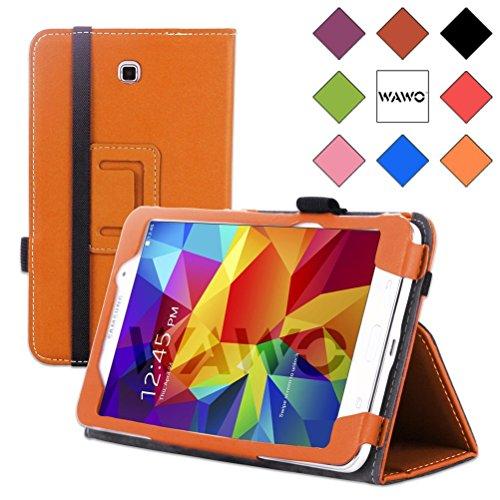 Wawo Creative Folio Cover Case For Samsung Galaxy Tab 4 7.0 Inch Tablet - Orange front-1053497