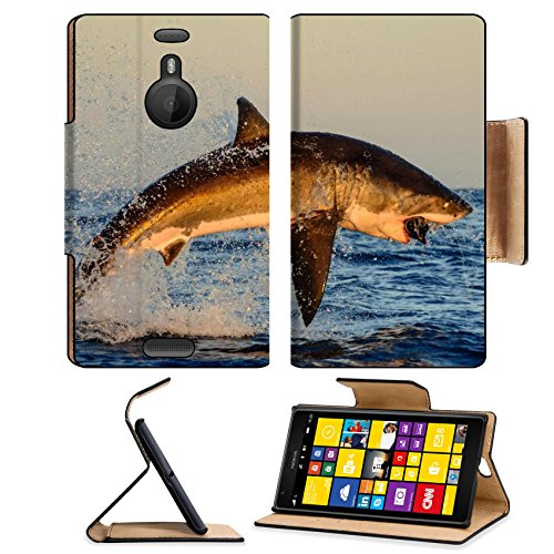 Nature Animals Jumping National Sharks Nokia Lumia Flip Case Stand Magnetic Cover Open Ports Customized Made To Order Support Ready Premium Deluxe Pu Leather Msd Cover Professional Cases Accessories Graphic Background Covers Designed Model Folio Sleeve Hd front-639910