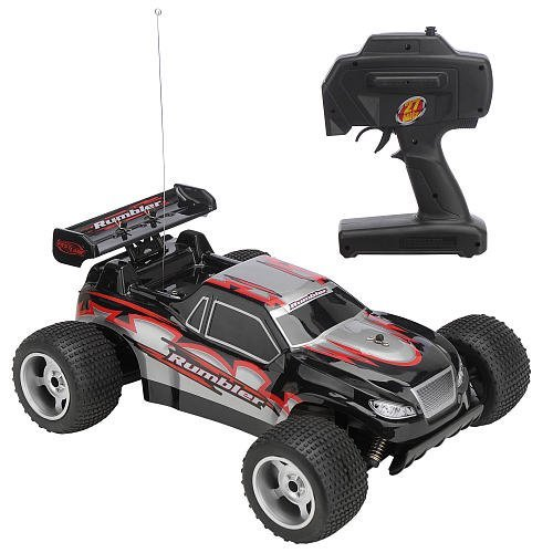 Fast Lane Radio Control 27 MHz Rumbler 1:10 Off-Road Truck - Black
