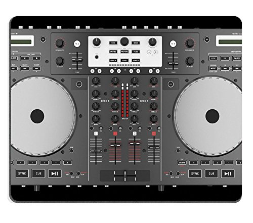 Luxlady Mousepads top view of dj mixer controller isolated on black background IMAGE 21785867