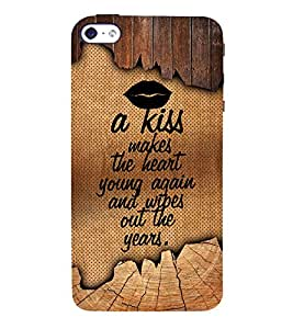 A Kiss Makes The Heart Young 3D Hard Polycarbonate Designer Back Case Cover for Apple iPhone 4S