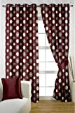 HOMEC Decorous Jacquard Curtain Set of 2 (Size - Door 46 X 84 inch/Color - Maroon)
