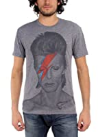 David Bowie - Mens Aladdin Sane Big Print Subway T-Shirt In Tri-Blend