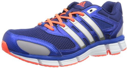 Adidas Mens Questar Cushion 2 M Running Shoes multi-coloured Mehrfarbig (Night Blue F13 / Tech Silver Met. F13 / Blue Beauty F10) Size: 43 1/3