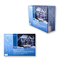 Christmas Workshop 87980 960 LED Snowing Icicle Lights - Blue/White by Benross Group