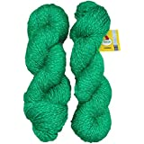 Vardhman Charming Acrylic And Nylon Knitting Green (200 Gm) Pack Of 2 (200 Gm)