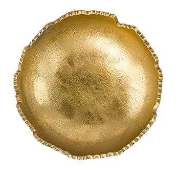 Gold Moon Decorative Torn Hammered Centerpiece Bowl - 9