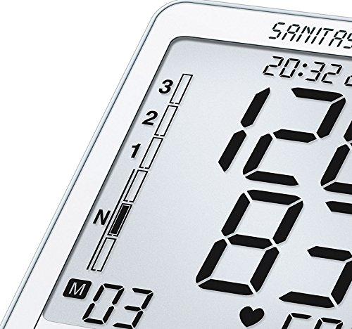 Sanitas SBM 50 Blutdruckmessgerät Oberarm, Weiß-Silber - 3