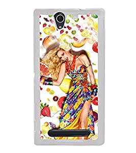 Fruit Girl 2D Hard Polycarbonate Designer Back Case Cover for Sony Xperia C3 Dual :: Sony Xperia C3 Dual D2502