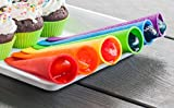 Nature's Kitchen - Silicone Popsicle Molds / Ice Pop Molds - Set of 6 Tubes