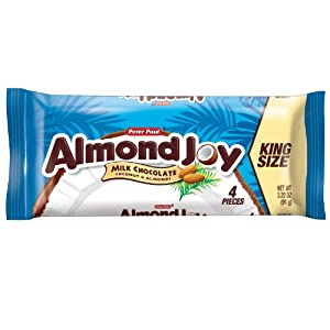 Almond Joy Candy Bar, 3.2-Ounce Bars (Pack of 18) by Almond Joy