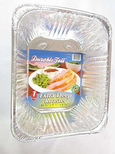 3 Disposable Aluminum Extra Deep Roaster Pans