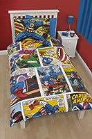 La valeur de Marvel Comics housse de couette unique de Captain America & taie d'oreiller