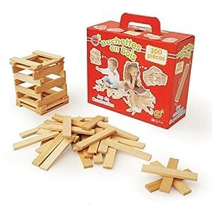 300 planchettes en bois - jouet en bois - jeu de construction - ALOYA - 2025