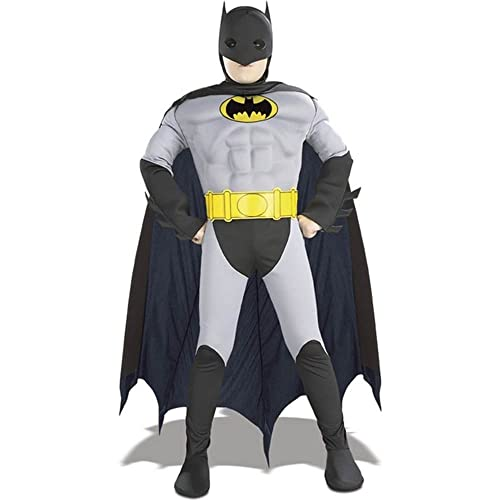 Rubies Costume The Batman Deluxe Muscle Chest Childs Costume Small One Color