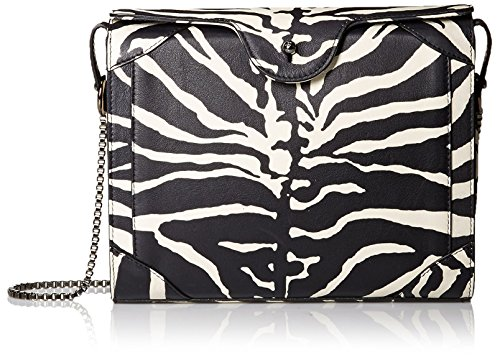 Carven-Womens-Print-Nappa-Goatskin-Bag-Black-and-White