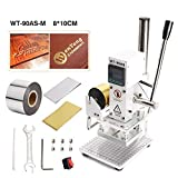 Bespick Hot Foil Stamping Machine 300W, Digital Bronzing Machine Tipper Stamper with Double Heat Pipes, for Foil Logo Embossing PVC Leather PU and Paper(8 x 10CM)
