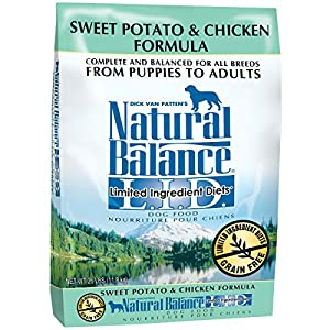 Natural Balance L.I.D. Limited Ingredient Diets Sweet Potato & Chicken Formula Dry Dog Food, 26-Pound