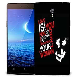 Snoogg Black Couple Designer Protective Back Case Cover For OPPO FIND 7