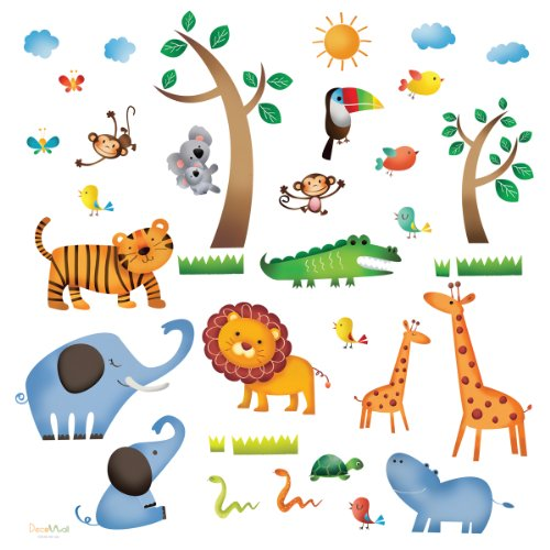 Jungle Wall Stickers/kids Wall Decals/wall Transfers/wall Tattoos/wall ...