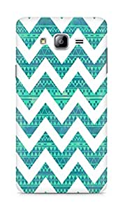 Amez designer printed 3d premium high quality back case cover for Samsung Galaxy ON7 (zig zag pattern)